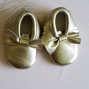 Other - Gold baby Moccasins 0-6